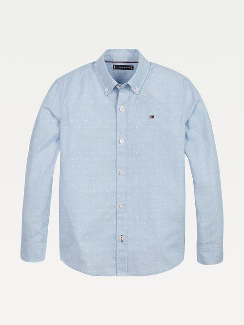 Camisa-de-lunares-en-tejido-dobby-de-algodon-Tommy-Hilfiger