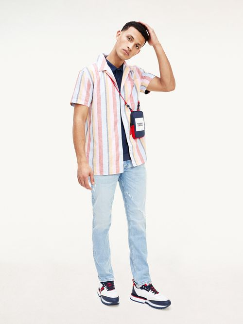 Camisa-de-manga-corta-con-cuello-cubano-Tommy-Hilfiger