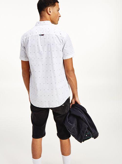 Camisa-de-manga-corta-en-tejido-dobby-Tommy-Hilfiger