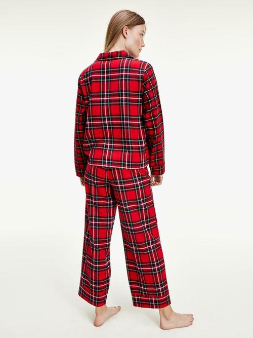 Pijama-de-franela-con-estampado-de-cuadros-Tommy-Hilfiger