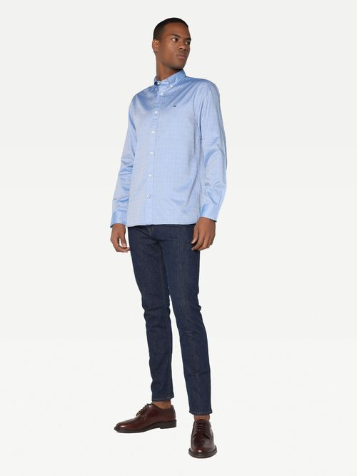 Camisa-Oxford-de-lunares-y-corte-regular-Tommy-Hilfiger