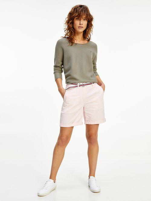 Pantalon-corto-chino-con-cinturon-distintivo-Tommy-Hilfiger