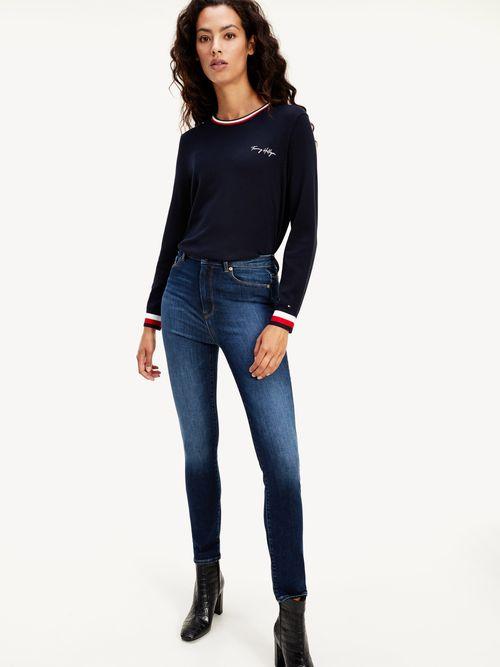 Jeans-Essential-ceñidos-de-talle-alto-Tommy-Hilfiger