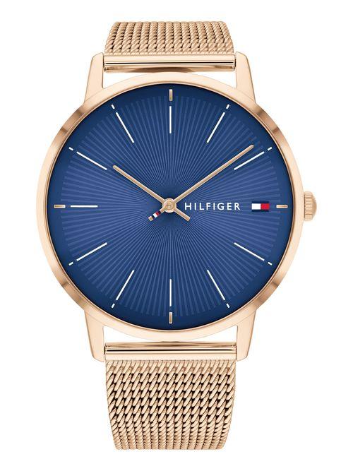 Reloj-dorado-con-azul-electrico-Tommy-Hilfiger