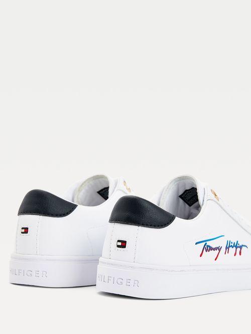 Tenis-con-suela-cupsole-y-logo-Tommy-Hilfiger