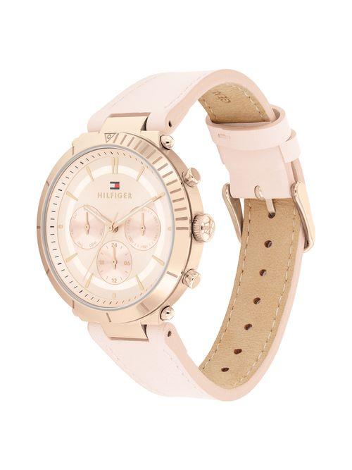 Reloj-con-brazalete-de-piel-rosado-Tommy-Hilfiger