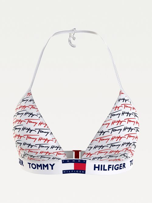 Parte-superior-de-bikini-Pride-de-triangulo-con-logo-Tommy-Hilfiger