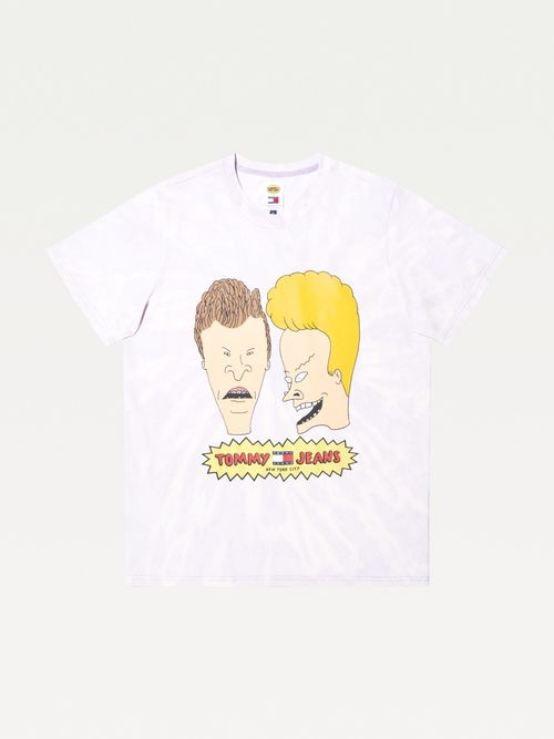 Playera-Beavis-y-Butt-head-diseño-tie-dye-Tommy-Hilfiger