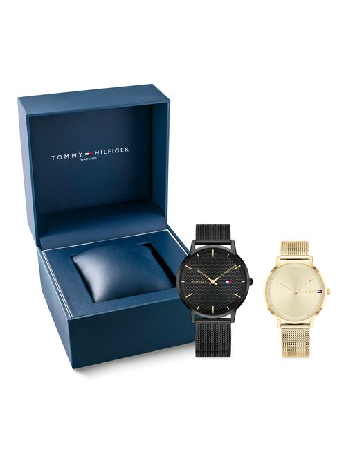 Set-de-regalo-con-un-reloj-de-dama-y-uno-de-caballero-Tommy-Hilfiger