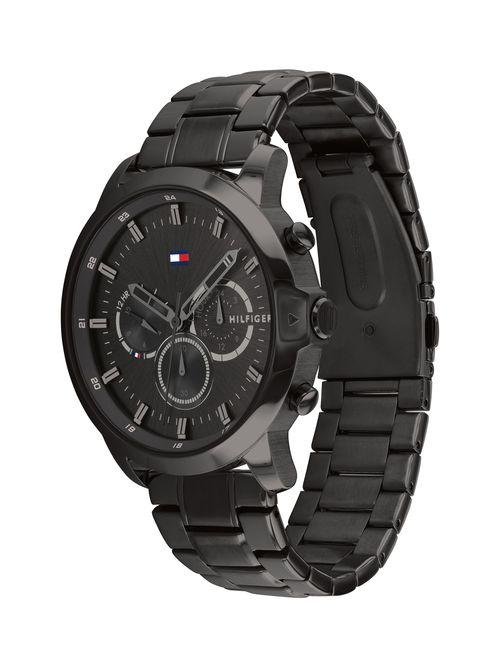 Reloj-metalico-deportivo-con-manecillas-gruesas-Tommy-Hilfiger