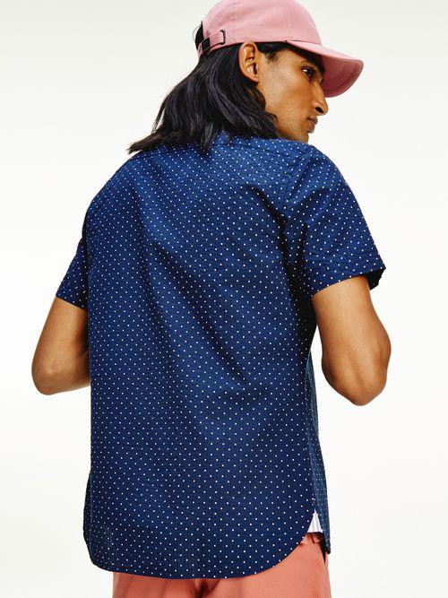 Camisa-de-micropuntos-con-manga-corta-Tommy-Hilfiger