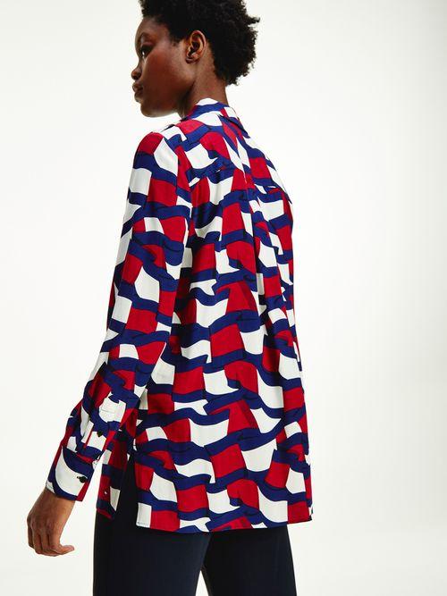 Blusa-estilo-camisa-de-tela-viscosa-Tommy-Hilfiger