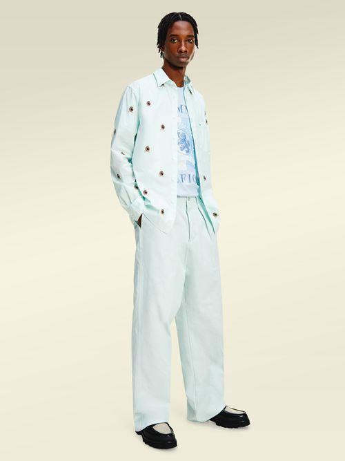 Camisa-de-algodon-organico-con-escudos-Tommy-Hilfiger