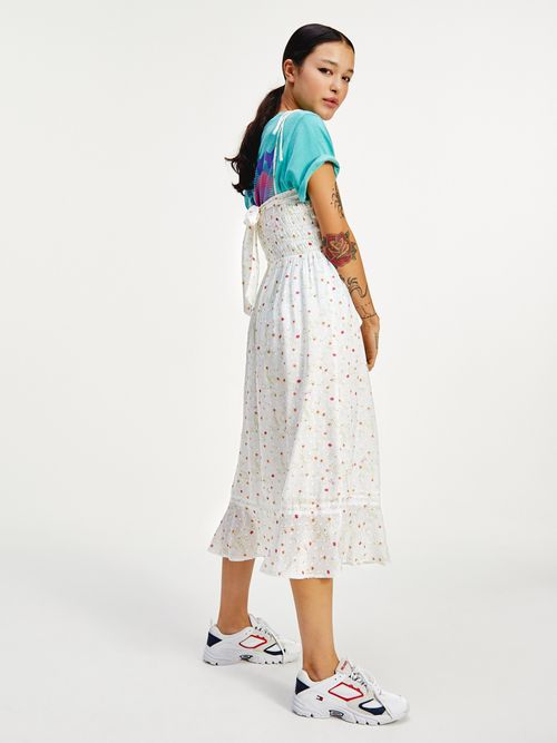 Vestido-de-viscosa-con-estampado-de-flores-Tommy-Hilfiger