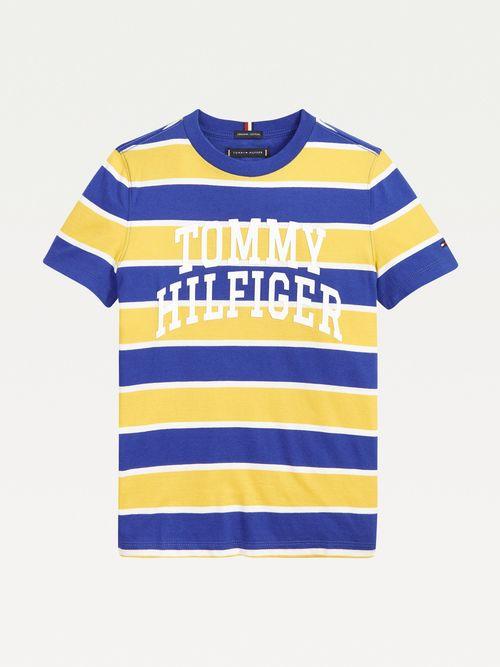 Camiseta-de-rayas-en-algodon-organico-para-niño-Tommy-Hilfiger