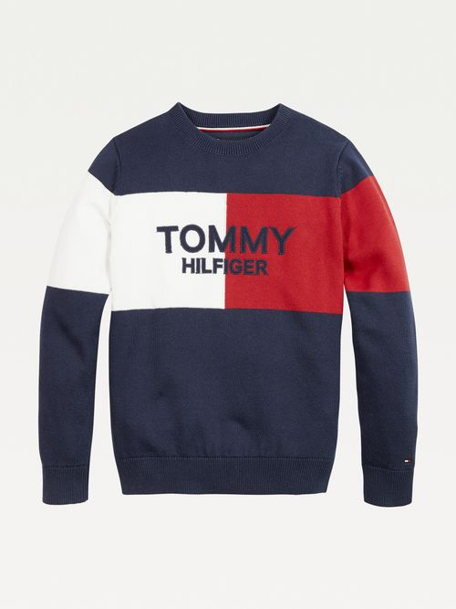 Jersey-color-block-Archive-para-niño-Tommy-Hilfiger