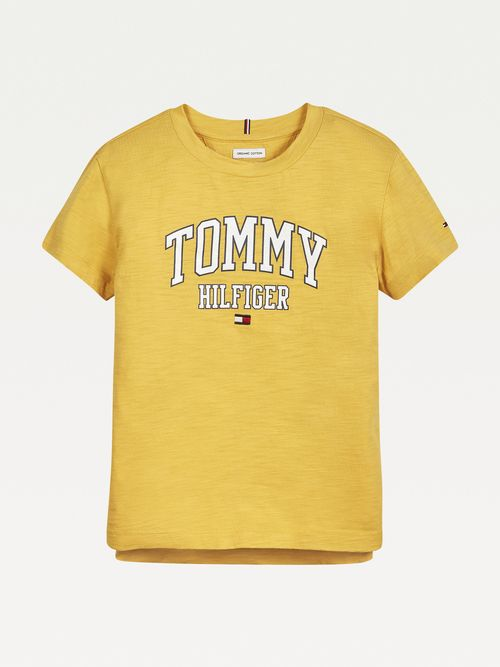 Camiseta-universitaria-de-algodon-organico-para-niña-Tommy-Hilfiger