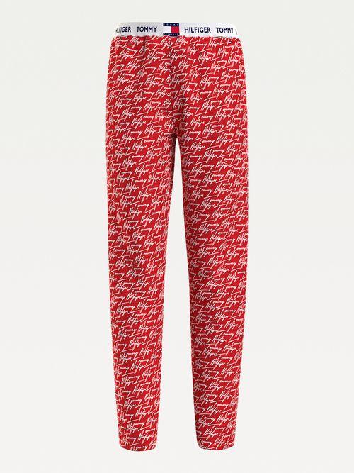 Pantalones-de-algodon-organico-con-logos-Tommy-Hilfiger