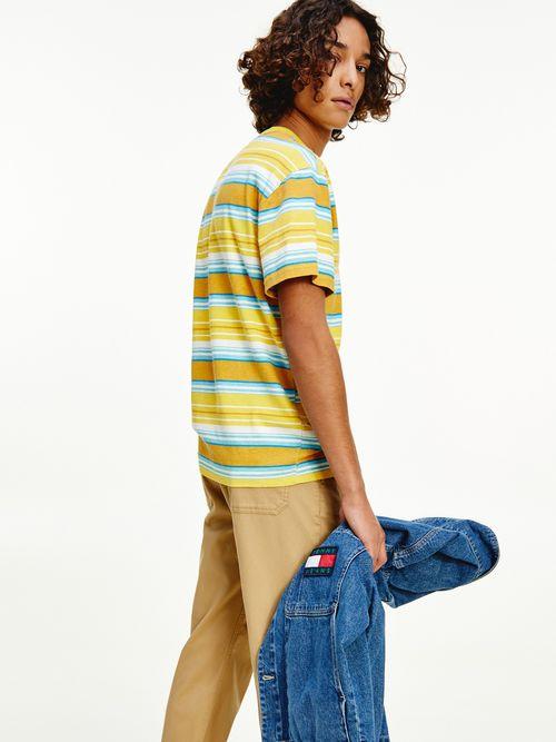 Camiseta-de-corte-amplio-con-rayas-mixtas-Tommy-Hilfiger