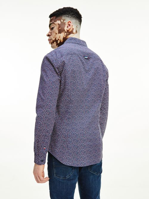 Camisa-de-corte-slim-con-microestampado-Tommy-Hilfiger