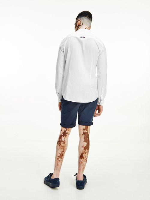 Camisa-de-corte-slim-con-cuello-mao-Tommy-Hilfiger