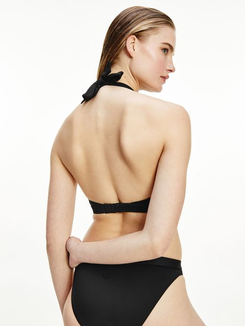 Parte-superior-de-bikini-estilo-halter-con-monograma-Tommy-Hilfiger