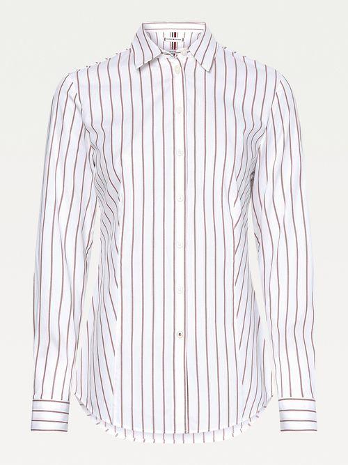 Camisa-de-corte-slim-con-raya-diplomatica-Tommy-Hilfiger