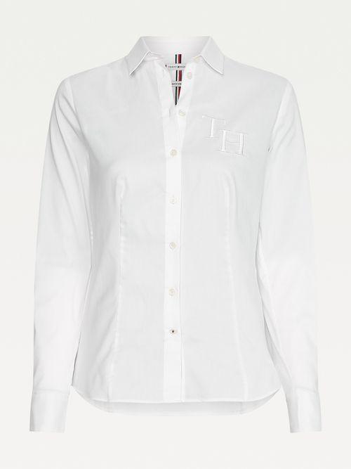 Camisa-de-corte-slim-con-monograma-Tommy-Hilfiger