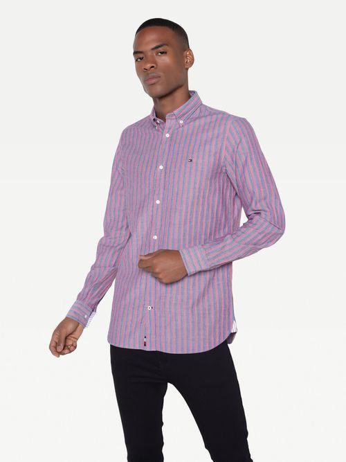Camisa-rayada-de-acabado-rugosos-Tommy-Hilfiger