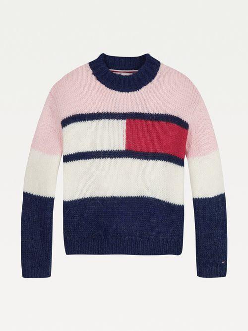 Chamarra-color-block-con-logo-para-niña-Tommy-Hilfiger