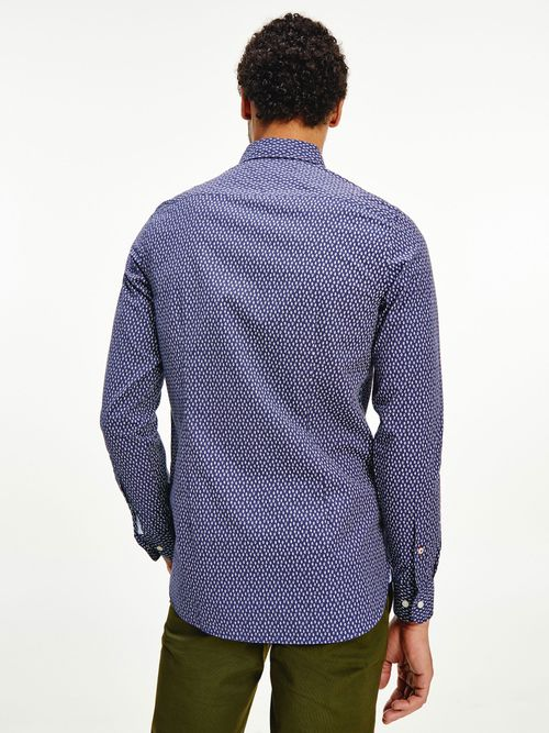 Camisa-de-corte-slim-con-estampado-de-hojas-Tommy-Hilfiger