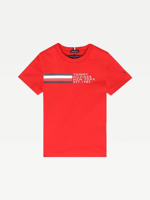 Playera-de-algodon-organico-y-logo-New-York-para-niño-Tommy-Hilfiger
