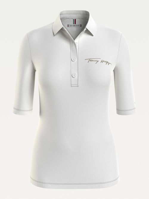 Polo-de-corte-slim-con-logo-Tommy-Hilfiger