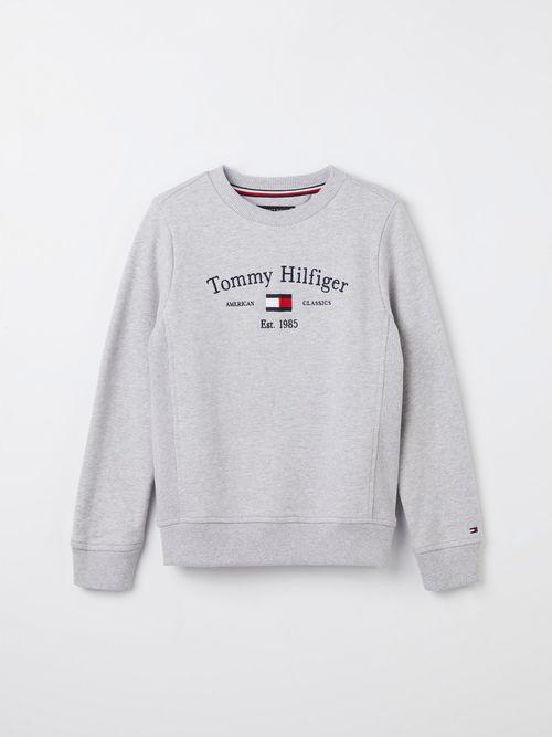 Chamarra-de-cuello-redondo-en-algodon-organico-para-niño-Tommy-Hilfiger