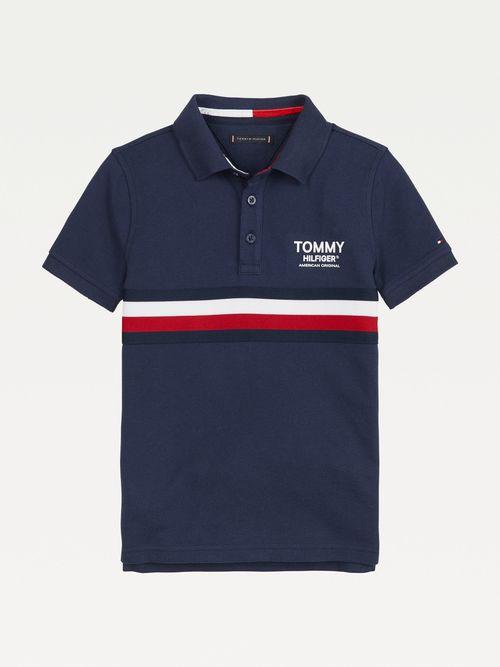 Polo-distintivo-de-algodon-organico-para-niño-Tommy-Hilfiger