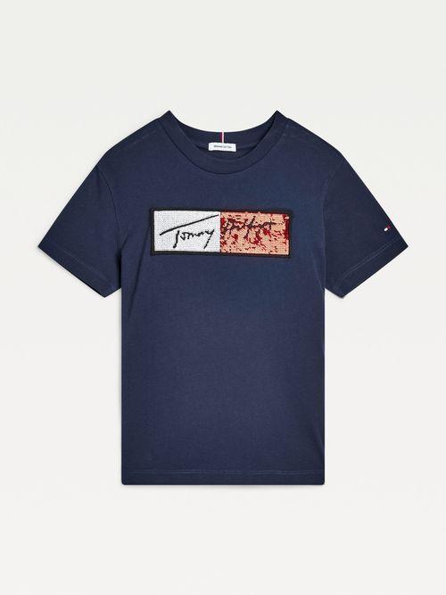 Playera-con-logo-de-lentejuelas-para-niña-Tommy-Hilfiger