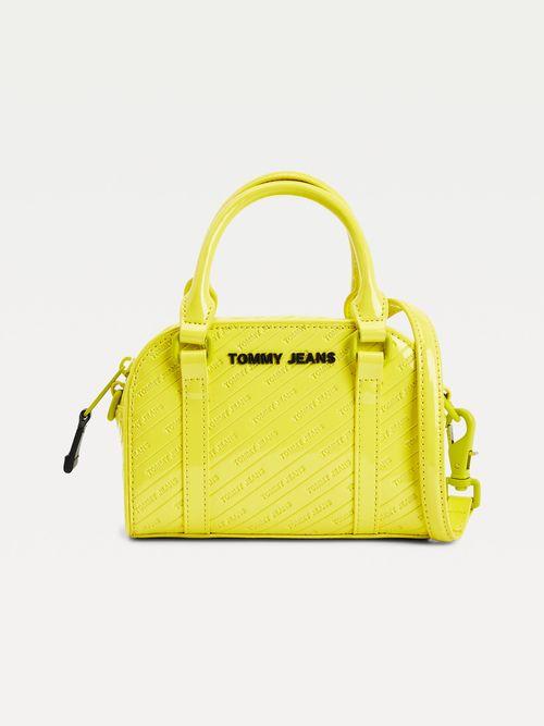 Bolso-satchel-con-acabado-acharolado-y-logo-Tommy-Hilfiger