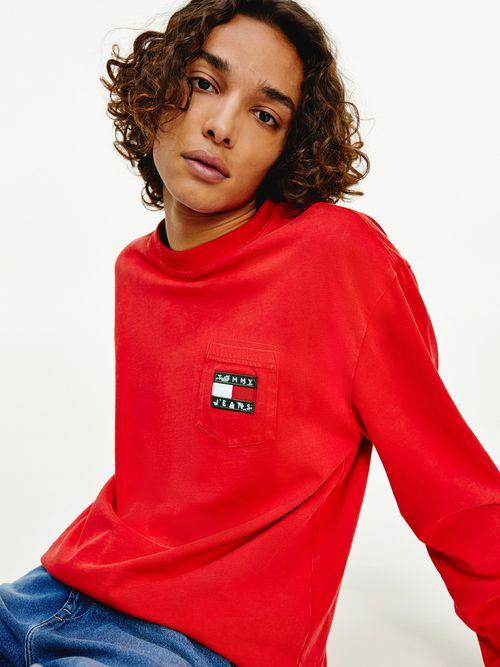 Camiseta-de-manga-larga-con-parche-de-Tommy-Tommy-Hilfiger
