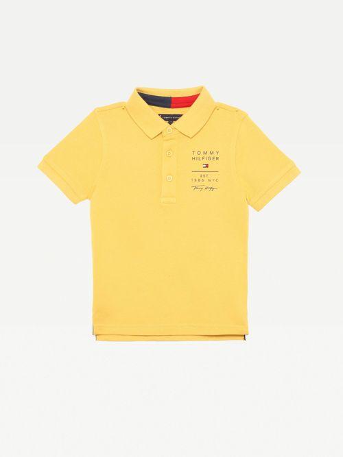 Polo-de-algodon-con-logos-para-niño-Tommy-Hilfiger